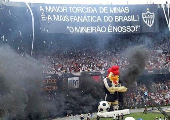 Torcida do Atlético Mineiro, pra variar, lotando o Mineirão